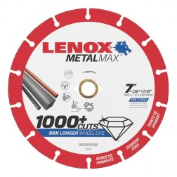 "Lenox METALMAX Cut-Off Wheel - 7"" Diameter, .060"" Thickness, ⅞"" Arbor, 1972924"